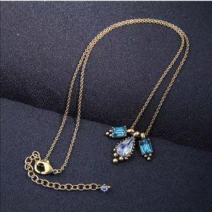 Jewelry - 💎 Vintage Green Crystal Teardrop Necklace